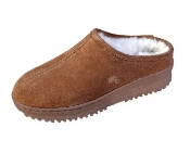 Women's Sheepskin Moccasins - Sheepskin Slipper-CLOG-Shoes - indoor/outdoor TPR rubber sole, golden-tan and ivory, chocolate, and black sheepskins; sizes: 5-11 (full sizes only)