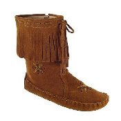 Women's Peace-Mocs Mid-Calf Fringe Boot