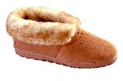 Men's Ankle-Hi Sheepskin Slipper-Shoe Bootie