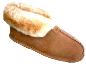 Men's Sheepskin Moccasins - Ankle-Hi Slipper-Shoe-Booties - Made with warm, soft, genuine SHEEPSKIN furs outside lined with suede cowhide for protection and durability. Leather outsole for soft and warm indoor use